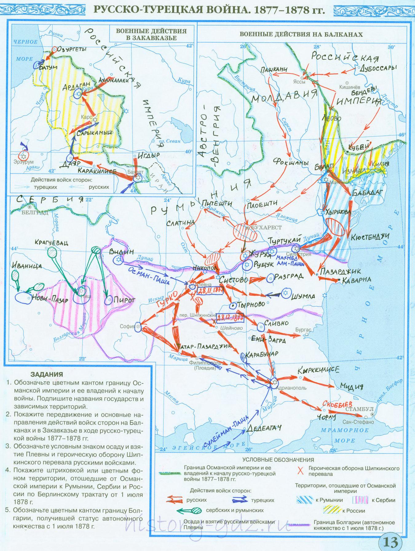 Гдз контурные карты по истории 8 класс дрофа